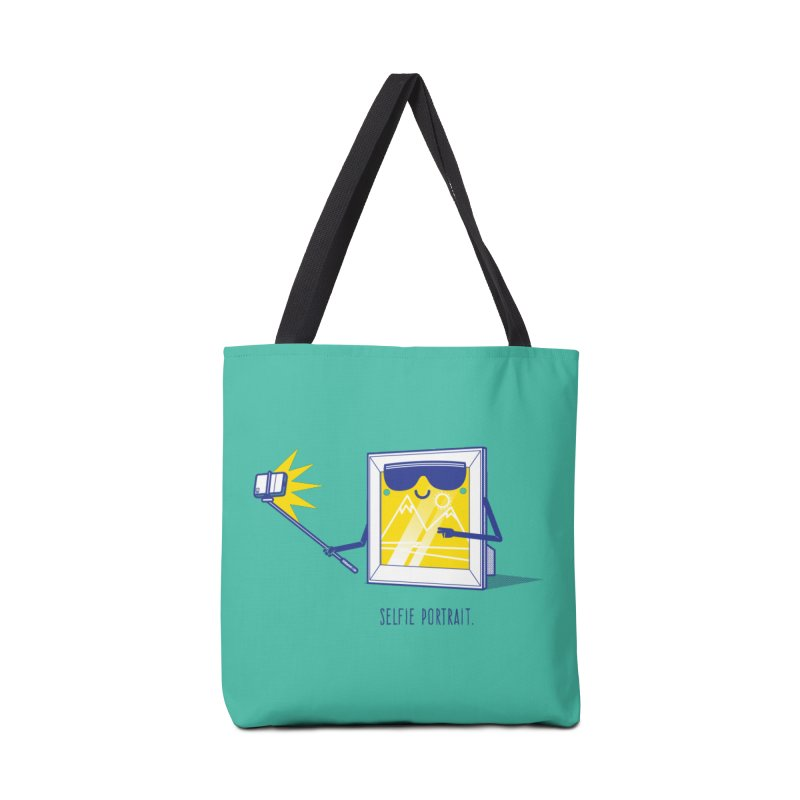 Selfie Portrait Accessories Tote Bag Bag by marcelocamacho's Artist Shop