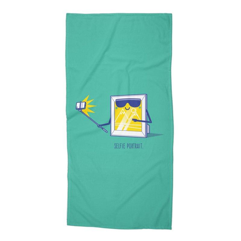 Selfie Portrait Accessories Beach Towel by marcelocamacho's Artist Shop