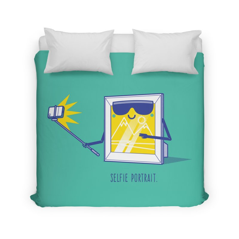 Selfie Portrait Home Duvet by marcelocamacho's Artist Shop