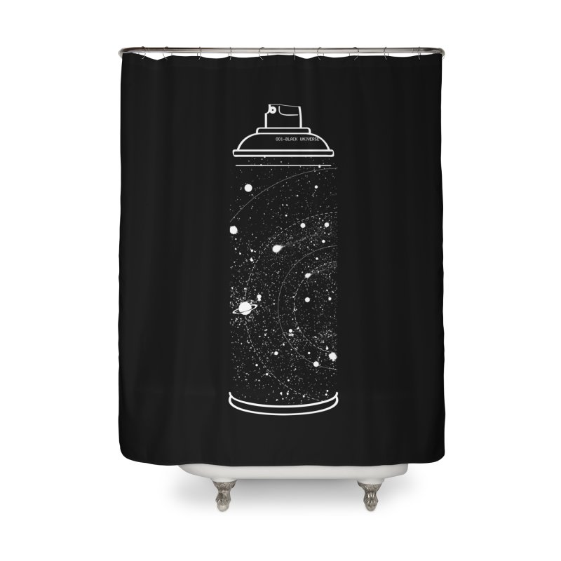 Space can Home Shower Curtain by marcelocamacho's Artist Shop