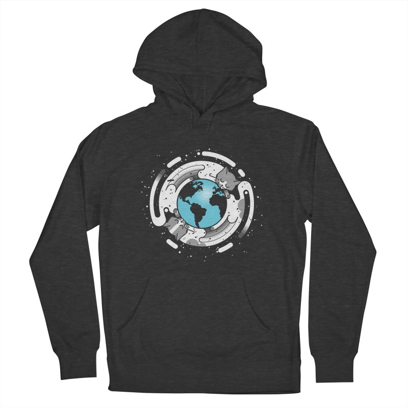 Catmosphere Women's French Terry Pullover Hoody by marcelocamacho's Artist Shop