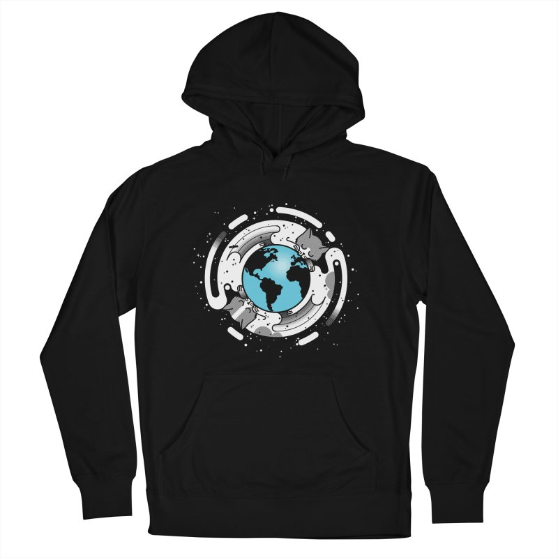Catmosphere Men's French Terry Pullover Hoody by marcelocamacho's Artist Shop
