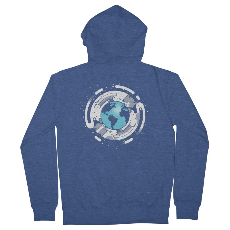 Catmosphere Women's French Terry Zip-Up Hoody by marcelocamacho's Artist Shop