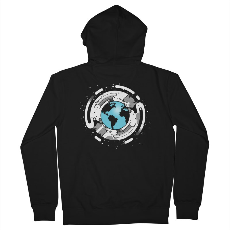Catmosphere Men's French Terry Zip-Up Hoody by marcelocamacho's Artist Shop