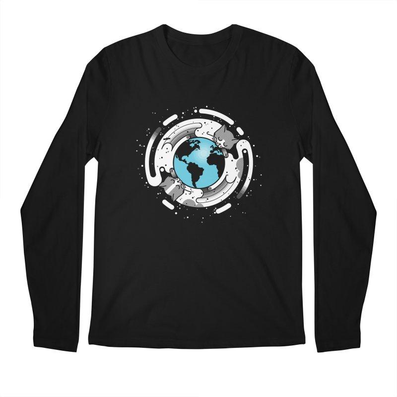 Catmosphere Men's Longsleeve T-Shirt by marcelocamacho's Artist Shop