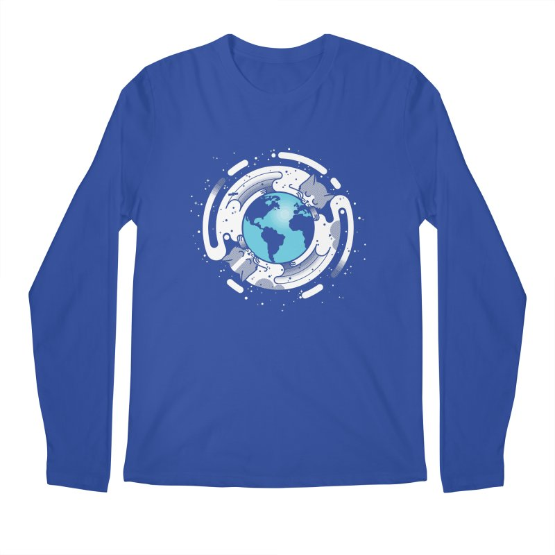 Catmosphere Men's Regular Longsleeve T-Shirt by marcelocamacho's Artist Shop