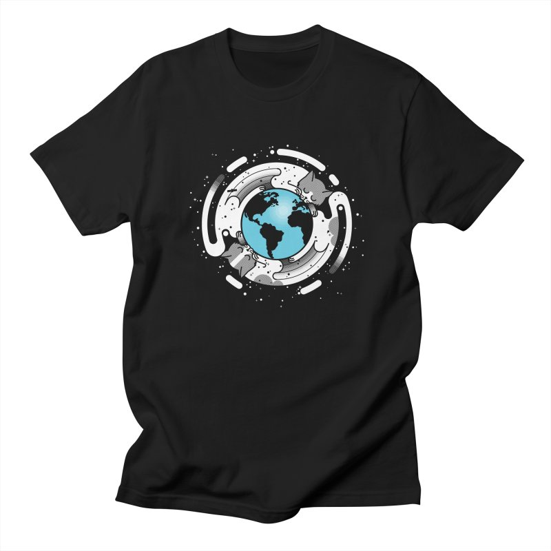 Catmosphere Men's T-shirt by marcelocamacho's Artist Shop