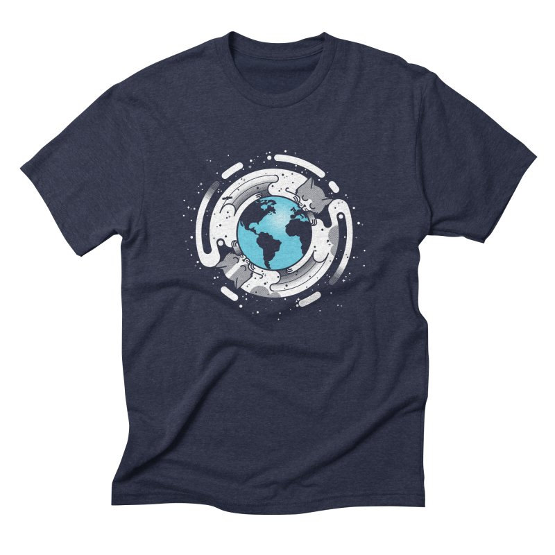 Catmosphere Men's Triblend T-Shirt by marcelocamacho's Artist Shop