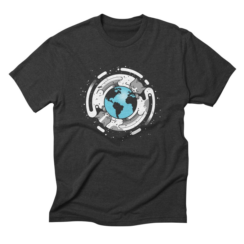 Catmosphere Men's Triblend T-shirt by marcelocamacho's Artist Shop