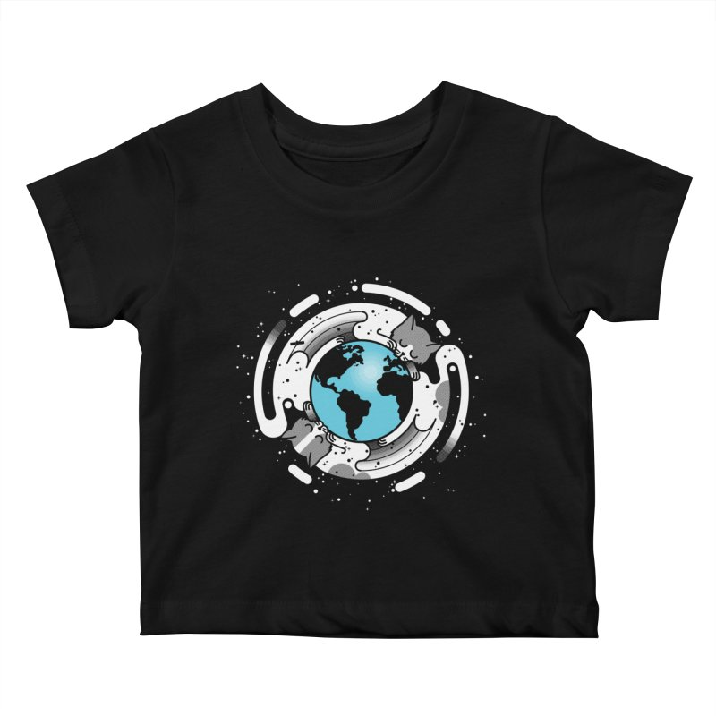 Catmosphere Kids Baby T-Shirt by marcelocamacho's Artist Shop