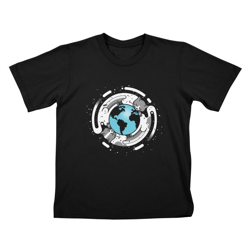Catmosphere Kids T-Shirt by marcelocamacho's Artist Shop