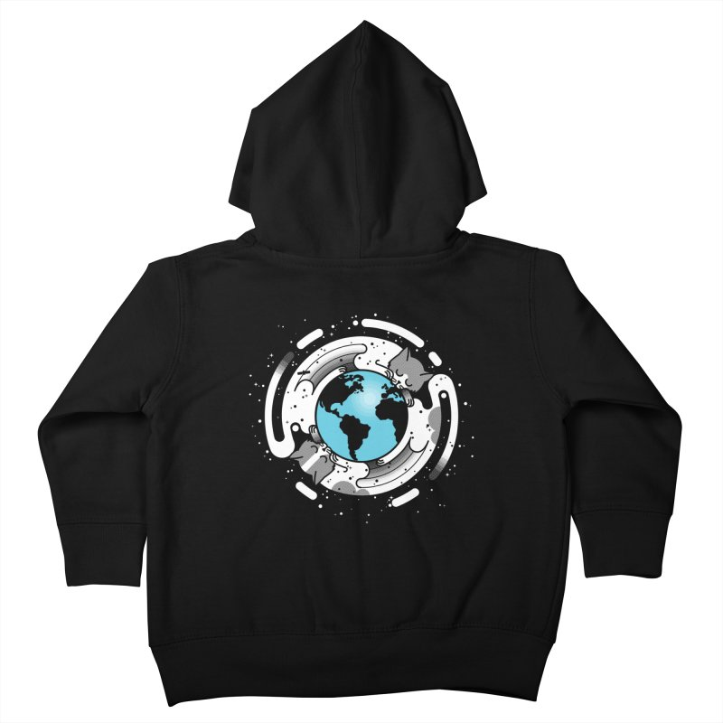 Catmosphere Kids Toddler Zip-Up Hoody by marcelocamacho's Artist Shop