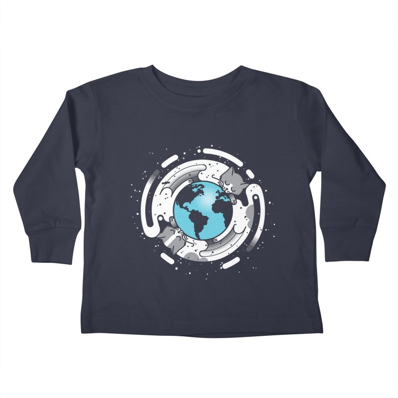 Catmosphere Kids Toddler Longsleeve T-Shirt by marcelocamacho's Artist Shop