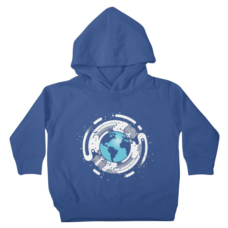 Catmosphere Kids Toddler Pullover Hoody by marcelocamacho's Artist Shop