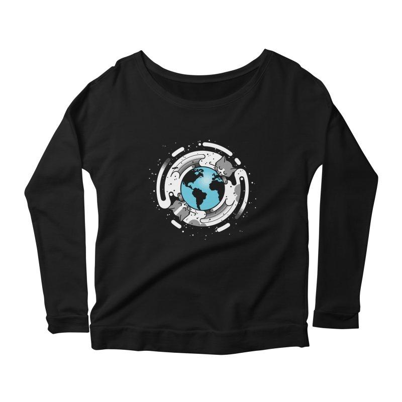 Catmosphere Women's Scoop Neck Longsleeve T-Shirt by marcelocamacho's Artist Shop