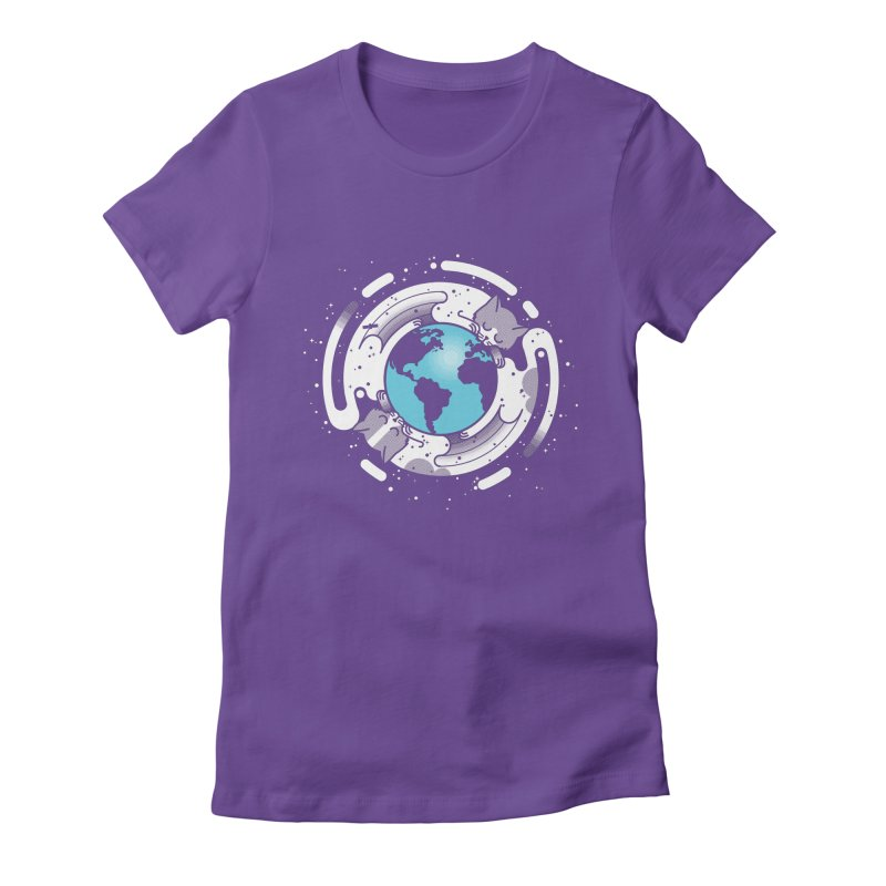 Catmosphere Women's Fitted T-Shirt by marcelocamacho's Artist Shop
