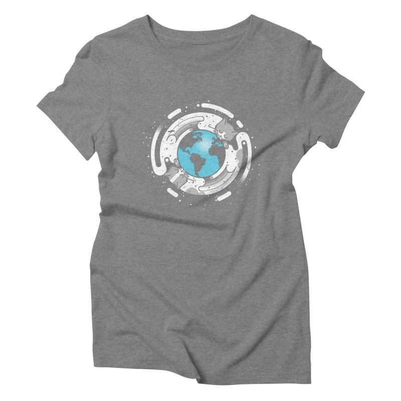 Catmosphere Women's Triblend T-Shirt by marcelocamacho's Artist Shop