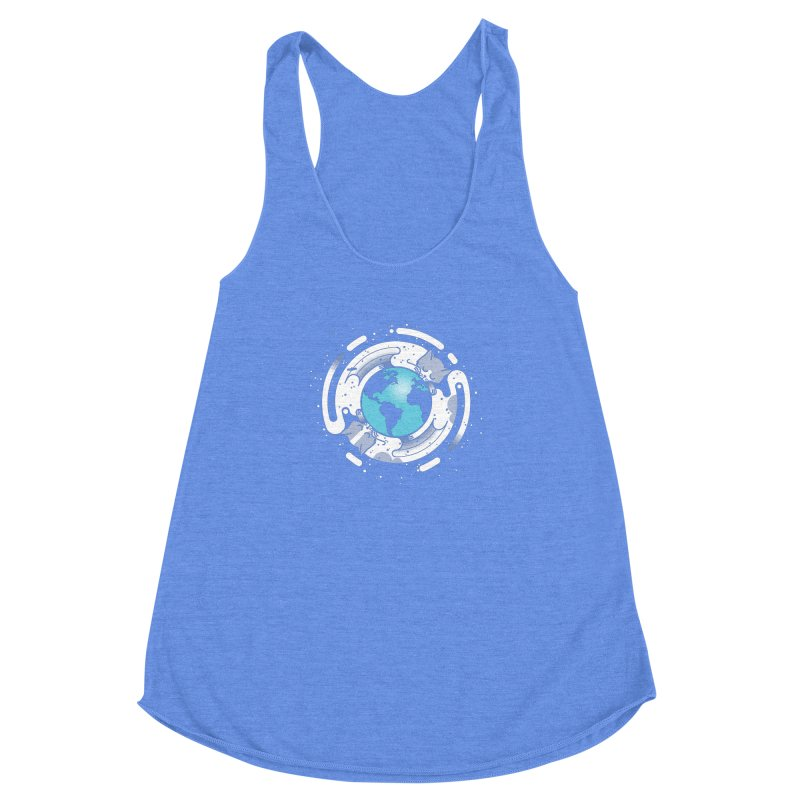 Catmosphere Women's Racerback Triblend Tank by marcelocamacho's Artist Shop