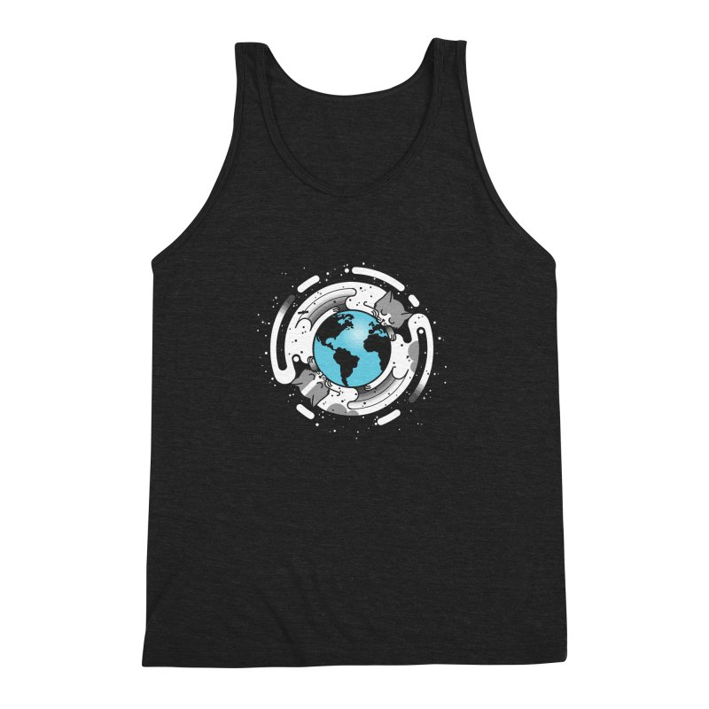 Catmosphere Men's Triblend Tank by marcelocamacho's Artist Shop