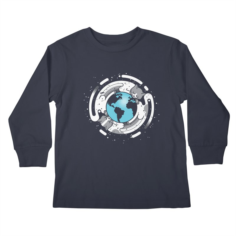 Catmosphere Kids Longsleeve T-Shirt by marcelocamacho's Artist Shop