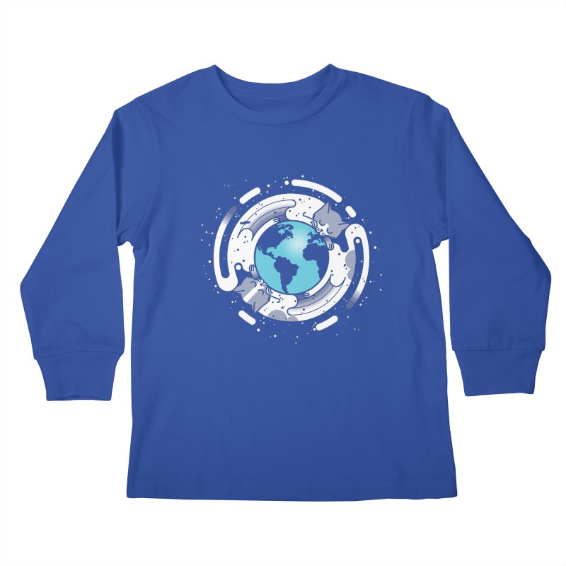 Catmosphere Kids Longsleeve T-Shirt by marcelocamacho's Artist Shop
