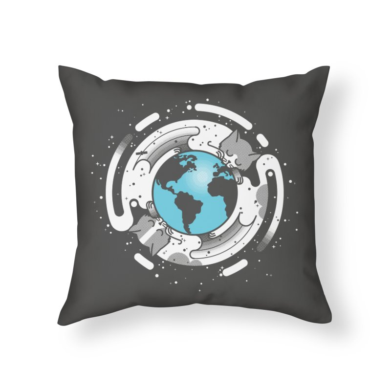 Catmosphere Home Throw Pillow by marcelocamacho's Artist Shop