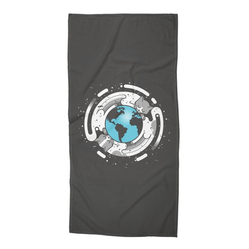 Catmosphere Accessories Beach Towel by marcelocamacho's Artist Shop