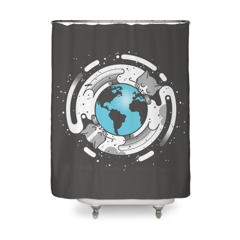 Catmosphere Home Shower Curtain by marcelocamacho's Artist Shop
