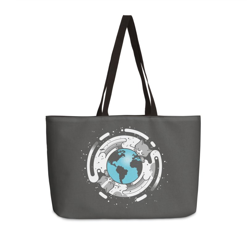 Catmosphere Accessories Weekender Bag Bag by marcelocamacho's Artist Shop
