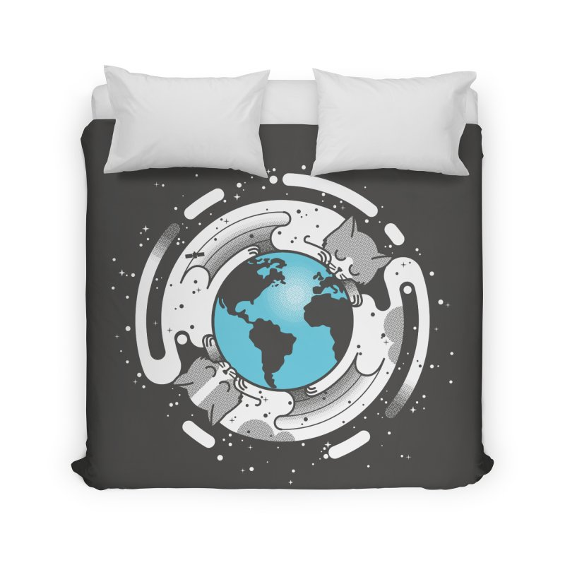 Catmosphere Home Duvet by marcelocamacho's Artist Shop