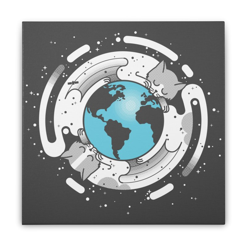 Catmosphere Home Stretched Canvas by marcelocamacho's Artist Shop