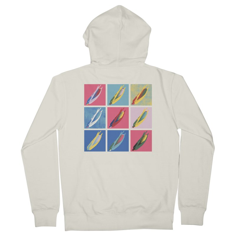 A Pop Corn Women's French Terry Zip-Up Hoody by marcelocamacho's Artist Shop