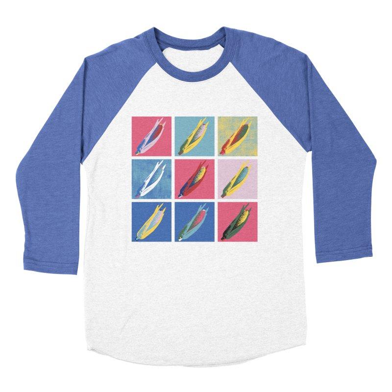 A Pop Corn Men's Baseball Triblend T-Shirt by marcelocamacho's Artist Shop