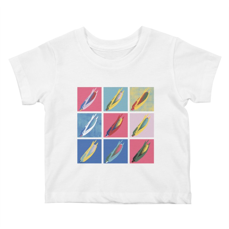 A Pop Corn Kids Baby T-Shirt by marcelocamacho's Artist Shop