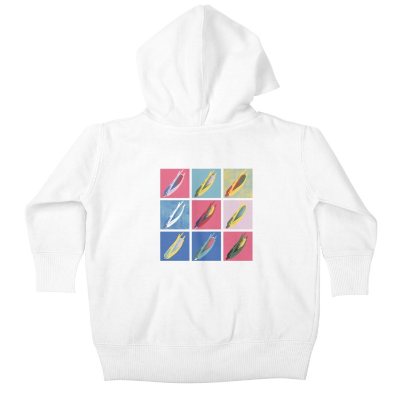 A Pop Corn Kids Baby Zip-Up Hoody by marcelocamacho's Artist Shop