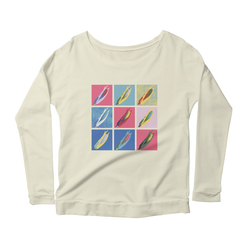 A Pop Corn Women's Scoop Neck Longsleeve T-Shirt by marcelocamacho's Artist Shop