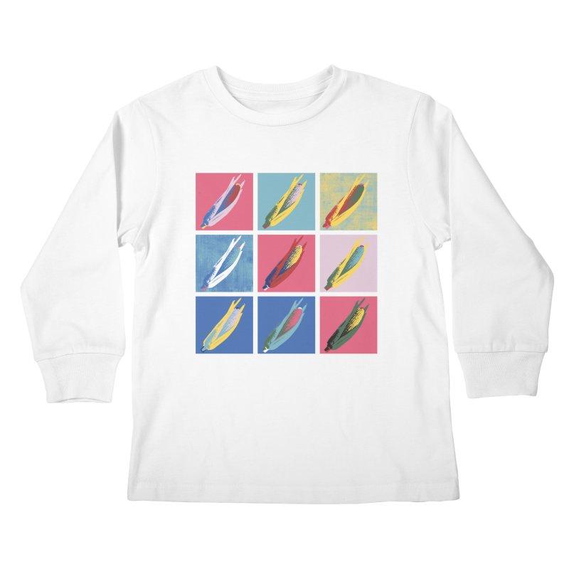 A Pop Corn Kids Longsleeve T-Shirt by marcelocamacho's Artist Shop