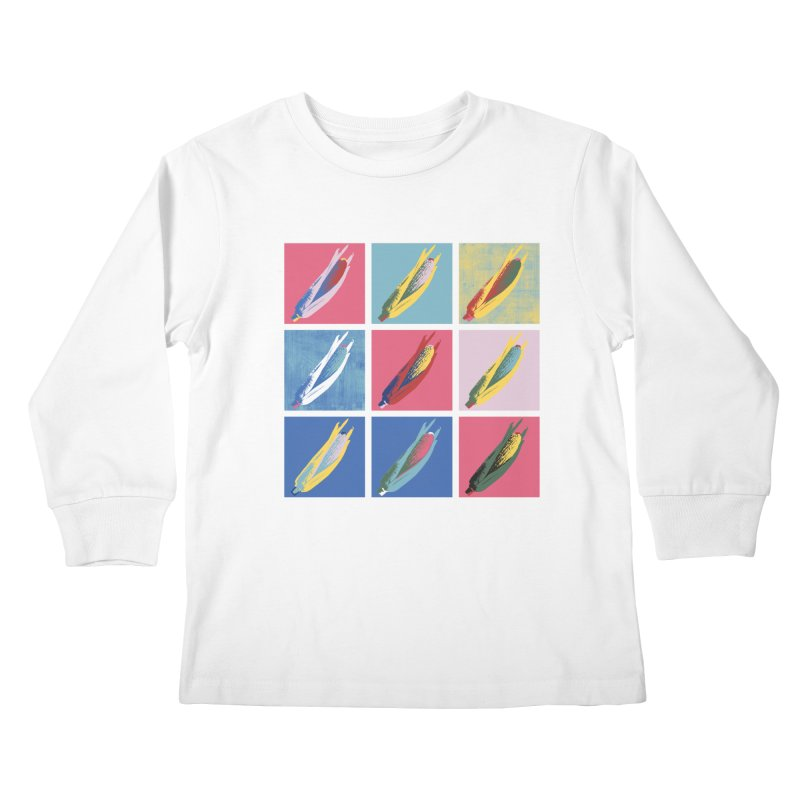 A Pop Corn Kids Longsleeve T-Shirt by marcelocamacho's Artist Shop