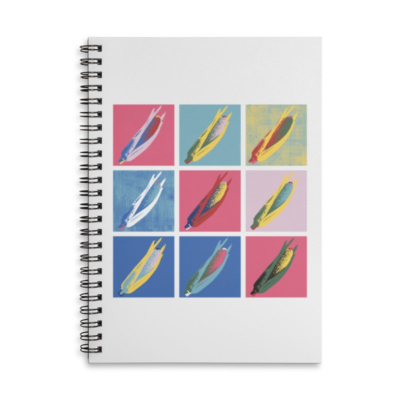 A Pop Corn Accessories Lined Spiral Notebook by marcelocamacho's Artist Shop