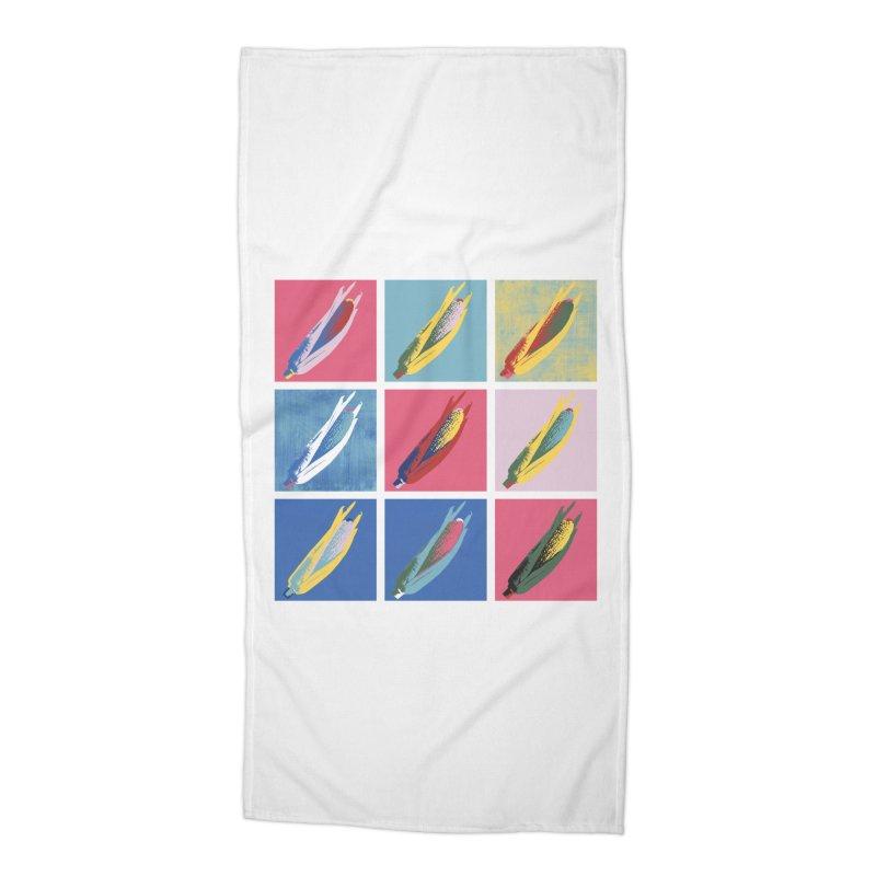 A Pop Corn Accessories Beach Towel by marcelocamacho's Artist Shop