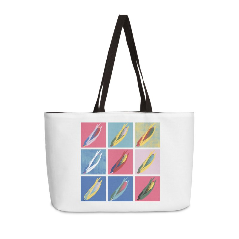 A Pop Corn Accessories Weekender Bag Bag by marcelocamacho's Artist Shop