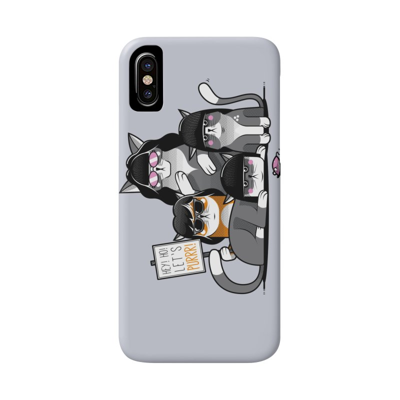 Let's Purrr Accessories Phone Case by marcelocamacho's Artist Shop