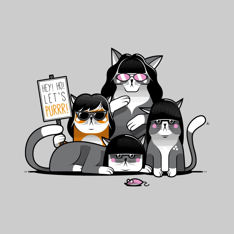 Let's Purrr None  by marcelocamacho's Artist Shop