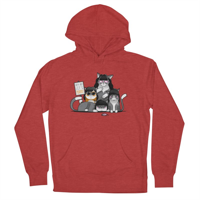 Let's Purrr Women's French Terry Pullover Hoody by marcelocamacho's Artist Shop