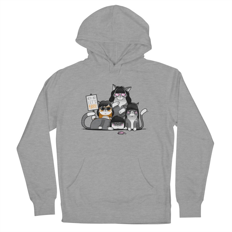 Let's Purrr Men's French Terry Pullover Hoody by marcelocamacho's Artist Shop