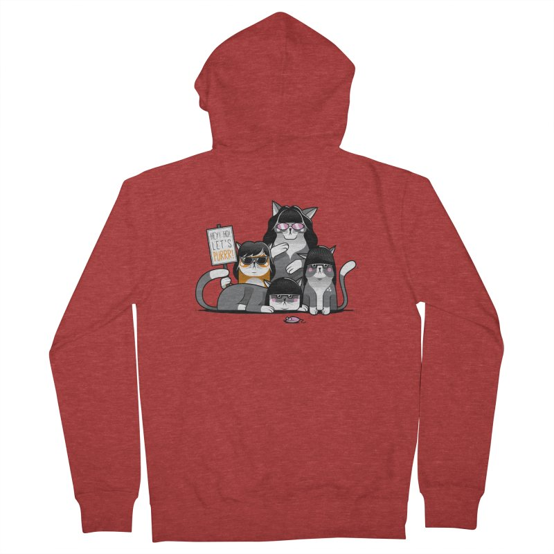 Let's Purrr Women's French Terry Zip-Up Hoody by marcelocamacho's Artist Shop