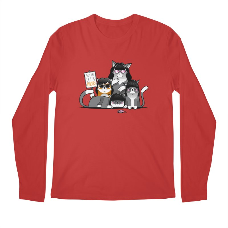 Let's Purrr Men's Regular Longsleeve T-Shirt by marcelocamacho's Artist Shop