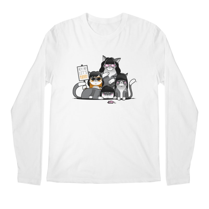 Let's Purrr Men's Longsleeve T-Shirt by marcelocamacho's Artist Shop