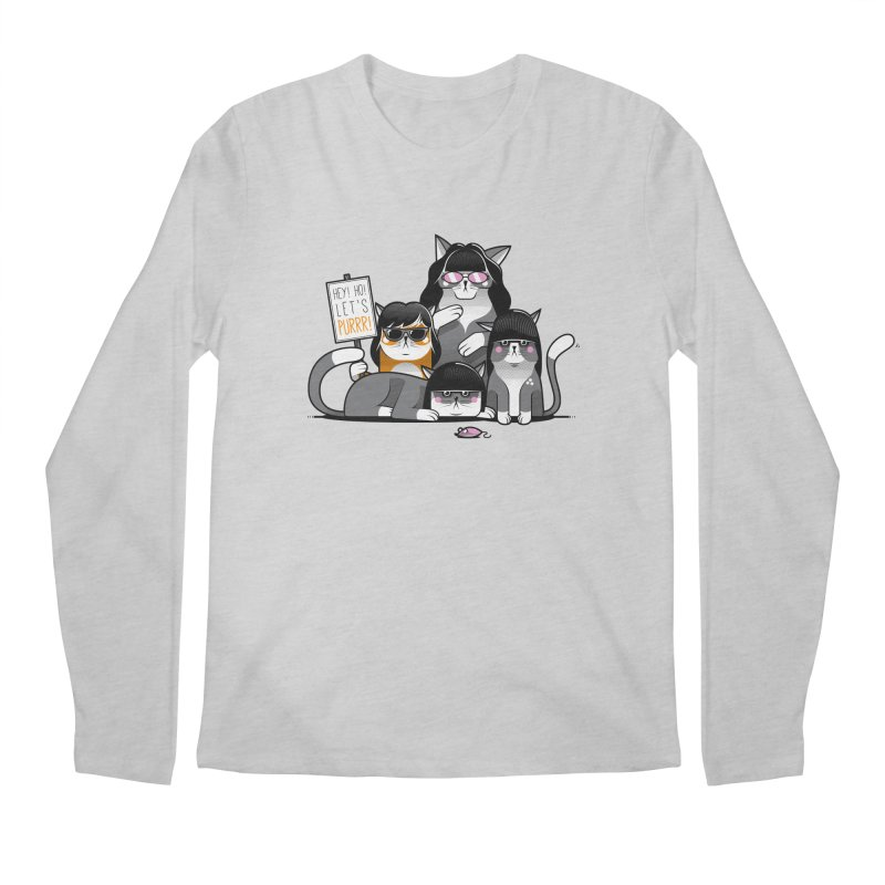 Let's Purrr Men's Longsleeve T-Shirt by marcelocamacho's Artist Shop