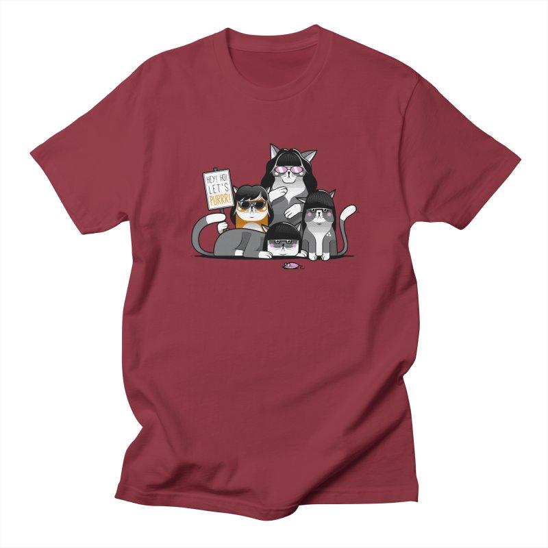 Let's Purrr Men's Regular T-Shirt by marcelocamacho's Artist Shop